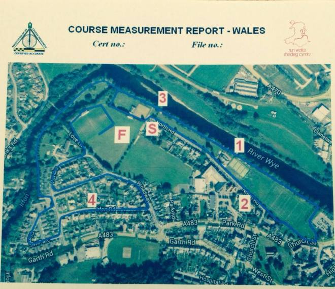 The Builth Fest 5k Course